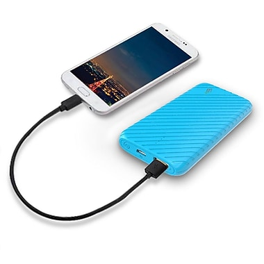 LAX Gadgets Compact USB Power Bank 4000mAh Portable Battery, Blue