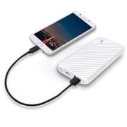 LAX Gadgets Compact USB Power Bank 4000mAh Portable Battery, White