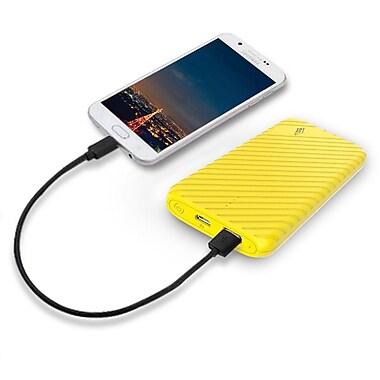 LAX Gadgets Compact USB Power Bank 4000mAh Portable Battery, Yellow