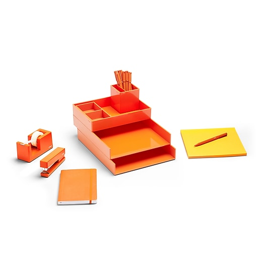 Poppin Orange Dream Desk (101603)