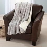 Ebern Designs Ava Velvet Plush Luxury Throw Blanket; Pewter
