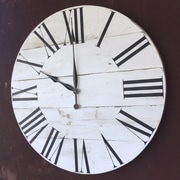Essex Hand Crafted Wood Products Oversized 28'' Hockley Painted Wood Wall Clock