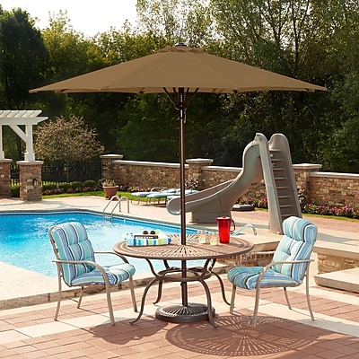 Blue Wave Spring-Up 9' Octagonal Market Umbrella, Stone Olefin