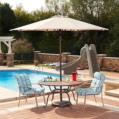 Blue Wave Catalina II 9' Octagonal Market Umbrella With Auto-Tilt, Champagne Olefin