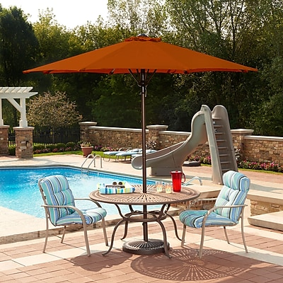 Blue Wave Spring-Up 9' Octagonal Market Umbrella, Terra Cotta Olefin
