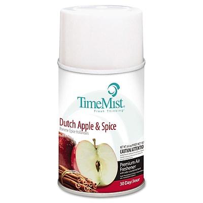 TimeMist® Metered Aerosol Fragrance Dispenser Refills, 6.6 oz, Dutch Apple & Spice, 12/Carton (1042818)