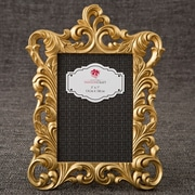 FashionCraft Metallic Baroque Picture Frame; Gold