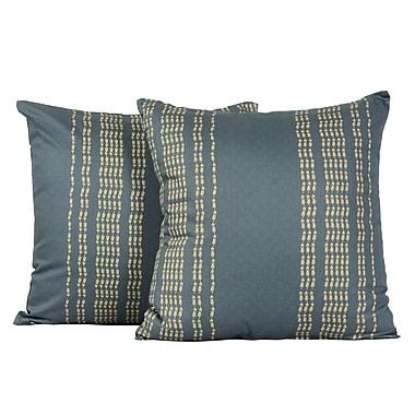 LJ Home Rapture Tile Print Cotton Throw Pillow (Set of 2)