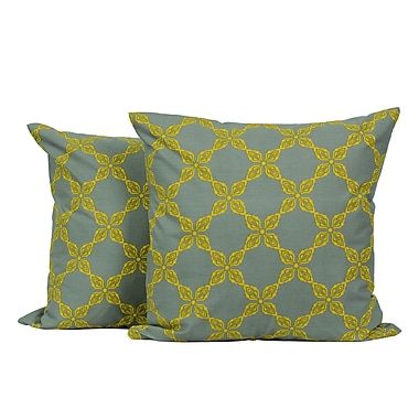 LJ Home Chain Link Printed Throw Pillow (Set of 2)