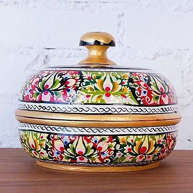 Brilliant Imports Handpainted Floral Decorative Bowl
