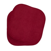 The Final Grab Inc. Memory Foam Dining Chair Cushion (Set of 2); Red