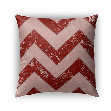 Kavka Candy Cane Burlap Chevron Indoor/Outdoor Throw Pillow; 18'' H x 18'' W x 5'' D