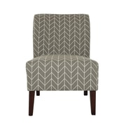 Glitzhome Herringbone Upholstered Side Chair