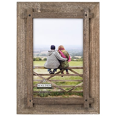 Malden Criss Cross Picture Frame; 4'' x 6''