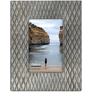 Malden Raised Diamond Picture Frame; 4'' x 6''