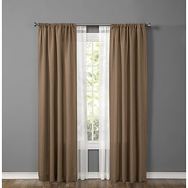 1888 Mills Made4You Window Treatment Set; Sepia