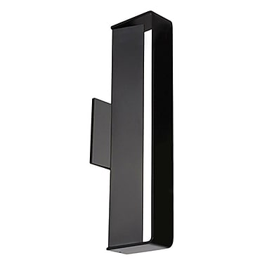 Radionic Hi Tech Superior 1-Light Wall Sconce; Black