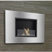 Ignis Quadra Recessed Ventless Wall Mount Ethanol Fireplace