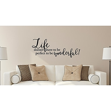Enchantingly Elegant LIfe Doesn't Have to Be Perfect Vinyl Wall Decal