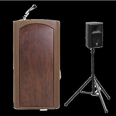 Accent Lecterns Dan James Original Classic Presenter Full Podium; Black/Cherry