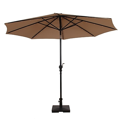 AuroFurniture Premium Solar Powered LED Lighted Illuminated Umbrella