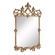 Elegant Lighting Antique Gold Arch/Crowned top Wall Mirror