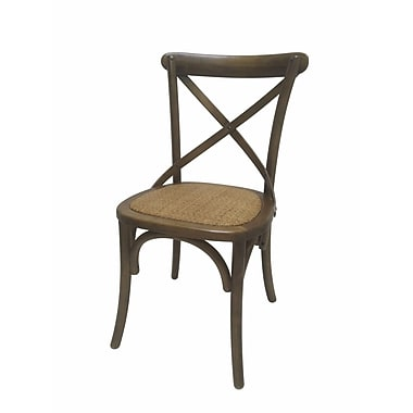 Jeco Inc. Side Chair (Set of 2); Brown