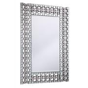 Elegant Lighting Modern Rectangle Silver Crystal Mirror