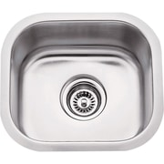 Hardware Resources 14.5'' x 13'' Single Bowl 18 Gauge Stainless Steel Undermount Bar Sink