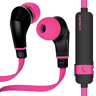 Naztech® NX80 Behind-the-Neck Wireless Earphone with Noise-Isolating Microphone, Pink/Black