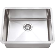 Hardware Resources 23'' x 18'' Single Bowl 16 Gauge Stainless Steel Kitchen Sink