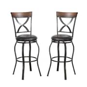 Poundex Bobkona Daisy 29'' Swivel Bar Stool (Set of 2)