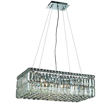 Rosdorf Park Bratton Contemporary 6-Light Kitchen Island Pendant; Spectra Swarovski