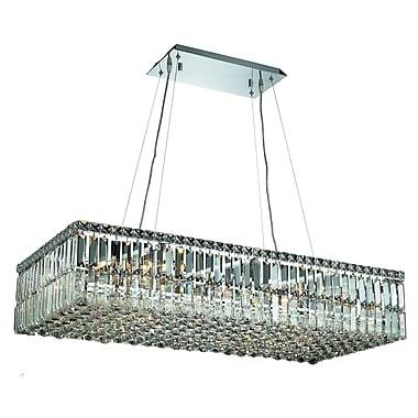 Rosdorf Park Bratton 16-Light Crystal Kitchen Island Pendant; 28'' / Spectra Swarovski