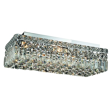 Rosdorf Park Bratton 4-Light Flush Mount; 16'' / Strass Swarovski