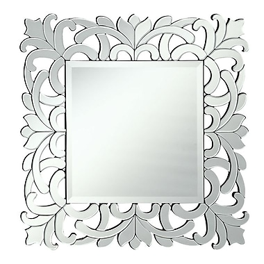 Astoria Grand Square Clear Framed Wall Mirror