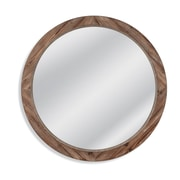 Union Rustic Booker Round Wood Wall Mirror