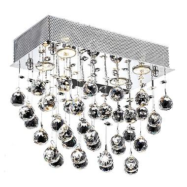 Everly Quinn Deidamia 6-Light LED Ceiling or Semi Flush Mount; Spectra Swarovski