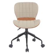 Porthos Home Sophia Low-Back Desk Chair; Cream