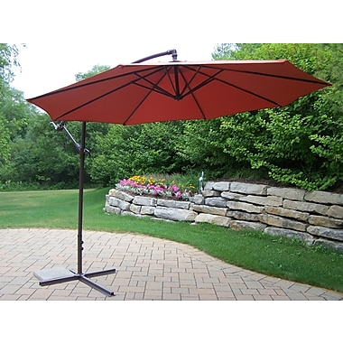 Darby Home Co Bosch 10' Rochester Cantilever Umbrella; Burnt Orange