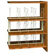 Ironwood Glacier 47'' Standard Bookcase; Amber Ash