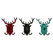Cole & Grey Metal Deer Wall Hook (Set of 3)