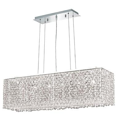 Orren Ellis Troas 6-Light Pendant; 46'' / Crystal (Clear) / Royal Cut