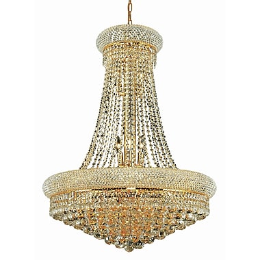 Willa Arlo Interiors Destanee 14-Light Empire Chandelier; 24'' / Chrome / Strass Swarovski