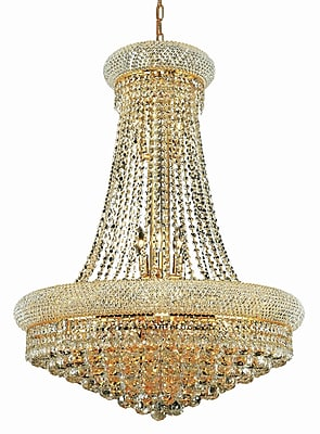 Willa Arlo Interiors Destanee 14-Light Empire Chandelier; 24'' / Gold / Elegant Cut