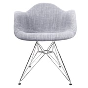 eModern Decor Woven Fabric Upholstered Arm Chair; Gray