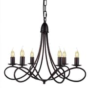 Darby Home Co Diaz 6-Light Candle-Style Chandelier; Dark Bronze