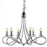 Darby Home Co Diaz 6-Light Candle-Style Chandelier; Polished Nickel