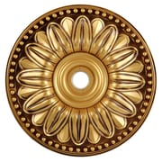 Elegant Lighting Medallion Ceiling Canopy; French Gold by