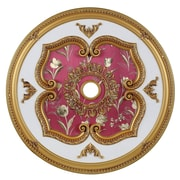Elegant Lighting Medallion Ceiling Canopy; Pewter by